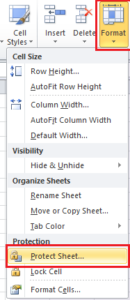 Fungsi Protect Sheet Excel