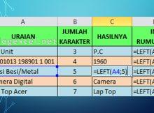 Fungsi Rumus Left di Excel