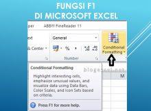 Fungsi F1 di Excel