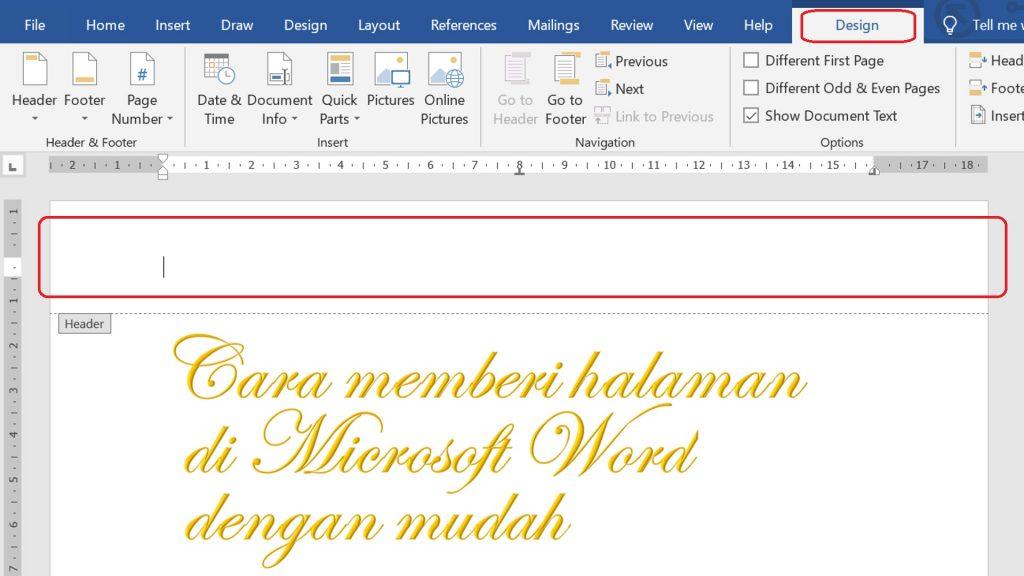 Menu Design Microsoft Word