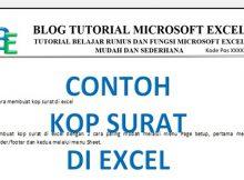Cara Membuat Kop Surat di Excel
