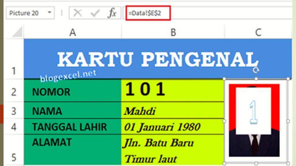 Rumus Foto di Excel